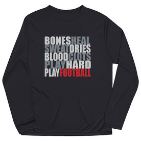 Football Long Sleeve Performance Tee - Bones Saying