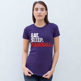 Baseball Women's Everyday Tee - Eat. Sleep. Baseball.