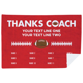 Football Premium Blanket - Thanks Coach (Horizontal)