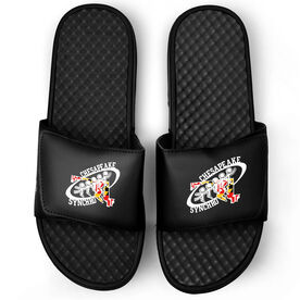 Black Slide Sandals - Chesapeake Synchronized Skating Logo