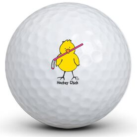 Hockey Chick Golf Balls