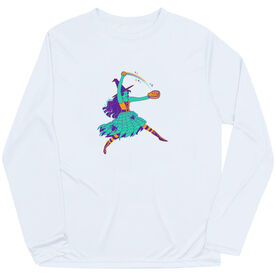 Softball Long Sleeve Performance Tee - Witch Pitch