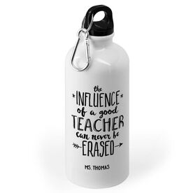 Personalized Teacher 20 oz. Stainless Steel Water Bottle -  Never Be Erased