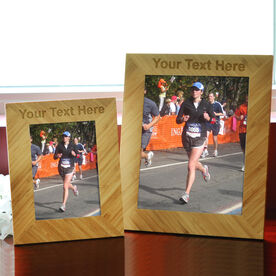 Bamboo Engraved Picture Frame Custom Text