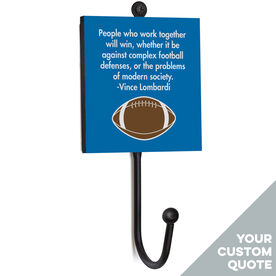 Football Medal Hook - Your Quote