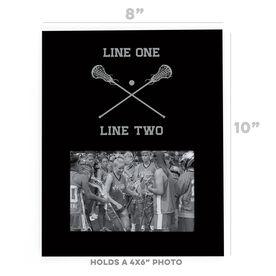 Girls Lacrosse Photo Frame - Team