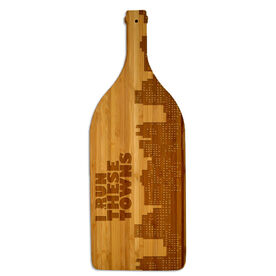 Wine Bottle Laser Engraved Bamboo Cutting Board I Run These Towns