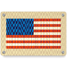 Volleyball Metal Wall Art Panel - American Flag Mosaic