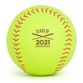 Personalized Engraved Softball - Graduation