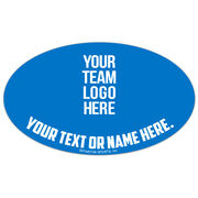 Volleyball Oval Car Magnet Your Logo