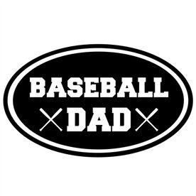 Baseball Dad Oval Vinyl Decal