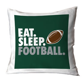 Football Decorative Pillow - Eat Sleep Football
