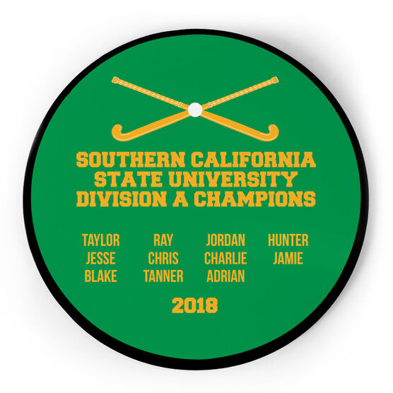 Field Hockey Circle Plaque - Team Roster