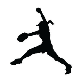Softball Pitcher Windup Vinyl Decal