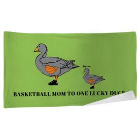 Basketball Beach Towel Mom Lucky Ducks