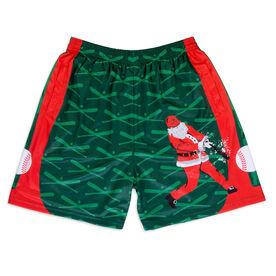 Home Run Santa Baseball Shorts