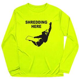Snowboarding Long Sleeve Tech Tee - Shredding Here