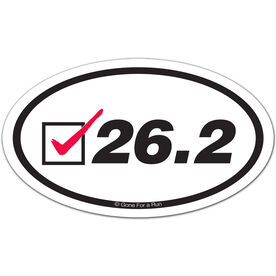 26.2 Check Oval Car Magnet