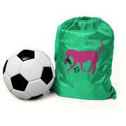 Soccer Sport Pack Cinch Sack Sasha the Soccer Dog