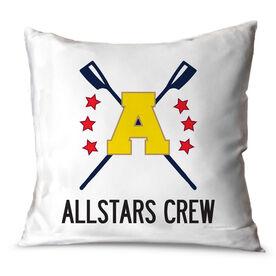 Crew Throw Pillow Custom Crew Logo With Team Name