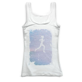 Running Vintage Fitted Tank Top - Inspiration Female Grunge