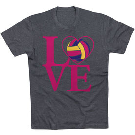Volleyball T-Shirt Short Sleeve Love Volleyball