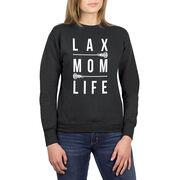 Girls Lacrosse Crew Neck Sweatshirt - LAX Mom Life