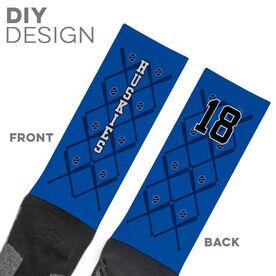 Baseball Printed Mid-Calf Socks - Team Socks Baseball Bats Pattern