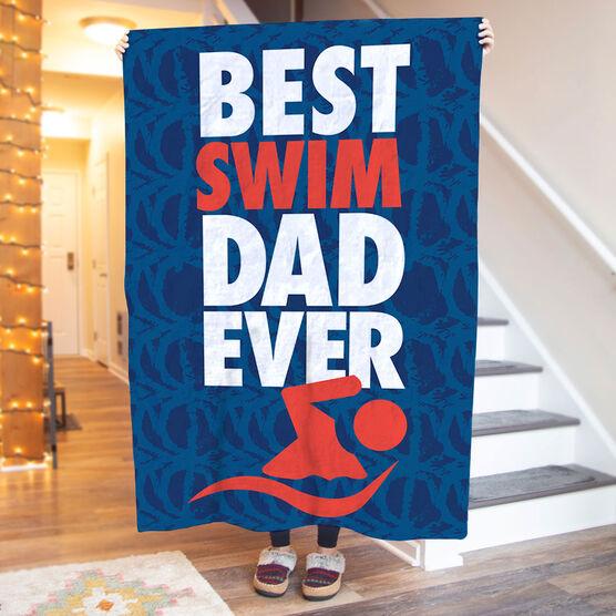 Swimming Premium Blanket - Best Dad Ever