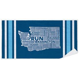 Running Premium Beach Towel - Washington State Runner