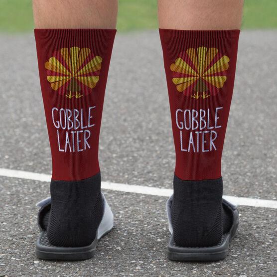 Softball Printed Mid-Calf Socks - Softball Turkey