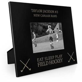 Field Hockey Engraved Picture Frame - Eat Sleep Play Field Hockey