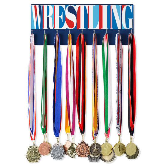 Wrestling Hooked on Medals Hanger - Wrestling Mosaic