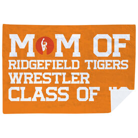 Wrestling Premium Blanket - Personalized Wrestling Mom