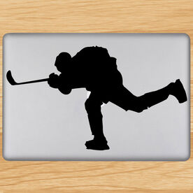 Hockey Player Shooting Removable ChalkTalkGraphix Laptop Decal