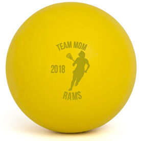Lacrosse Team Mom Player Female Laser Engraved Lacrosse Ball (Yellow Ball)