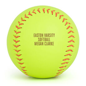 Personalized Engraved Softball - Personalized Ball