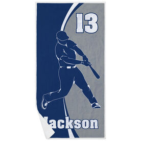Baseball Premium Beach Towel - Personalized Batter