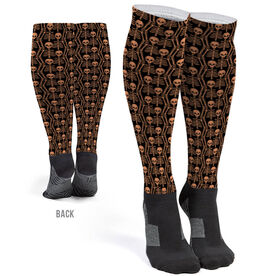 Printed Knee-High Socks - Skeletons