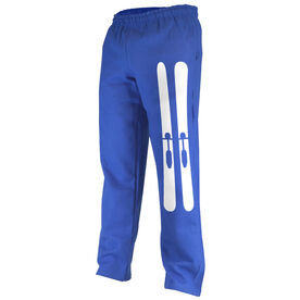 Skiing Fleece Sweatpants Skis