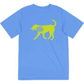 Tennis Short Sleeve Performance Tee - Dennis The Tennis Dog