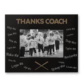 Softball Engraved Frame - Thanks Coach