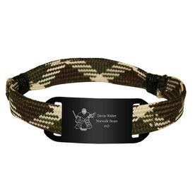 Personalized Hockey Lace Bracelet Goalie Adjustable Wrister Bracelet