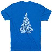 Lacrosse Short Sleeve T-Shirt - Merry Laxmas Tree
