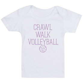 Volleyball Baby T-Shirt - Crawl Walk Volleyball