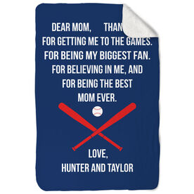 Baseball Sherpa Fleece Blanket - Dear Mom Heart