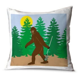 Guys Lacrosse Throw Pillow Bigfoot Lacrosse