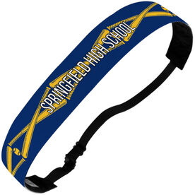 Softball Julibands No-Slip Headbands - Personalized Crossed Bats Stripe Pattern