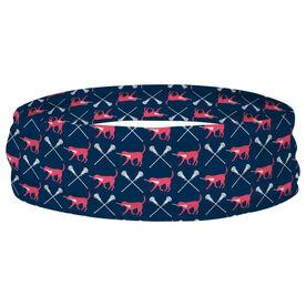 Girls Lacrosse Multifunctional Headwear - LuLa the Lax Dog RokBAND