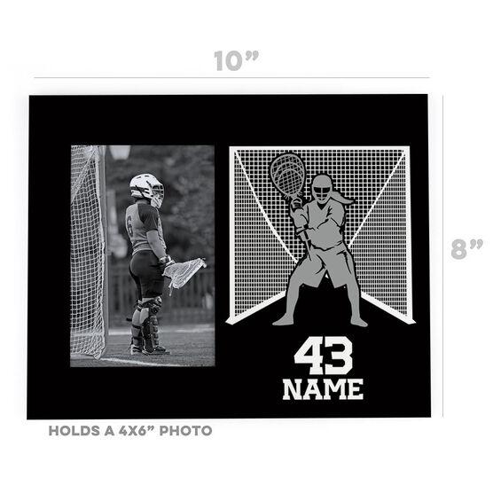 Girls Lacrosse Photo Frame - Goalie Silhouette
